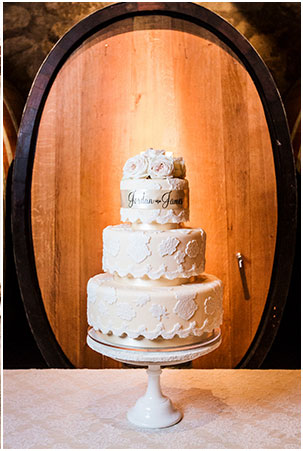 cake in front of a barrel