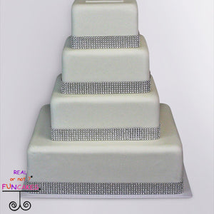 four layers of bling 4 tier cake