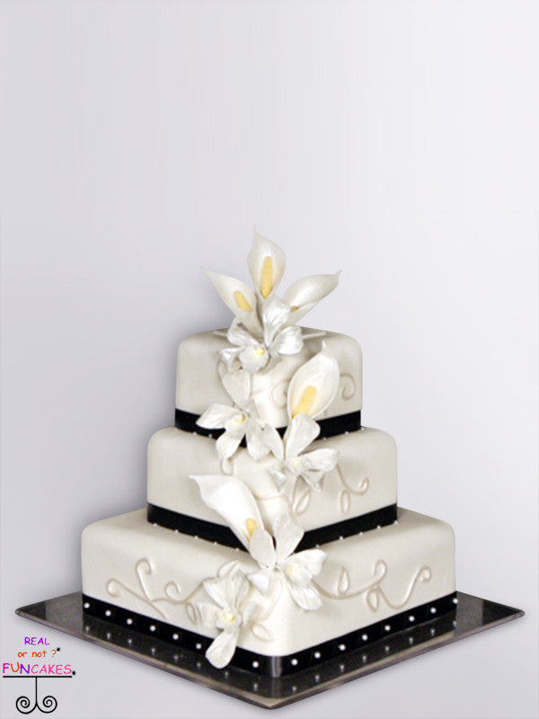 black orchids 3 tier cake