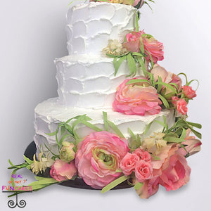 buttercream flowers 3 tier cake