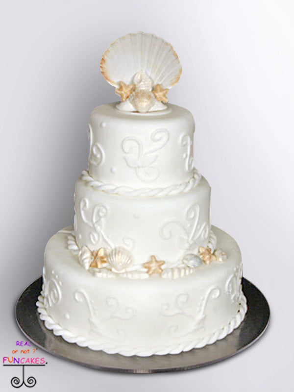 sea shore 3 tier cake