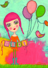 Load image into Gallery viewer, LOVE (Girl) Art Print