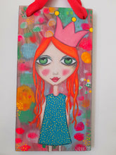Load image into Gallery viewer, RILEY : Original Mixed Media Art on Timber Board