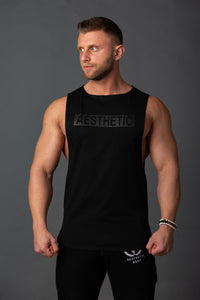 "Tank Sleeveless ""Reverse"" Black/Black"