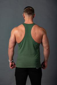 "Tank Stringer ""Aesthetic"" Khaki/Black"