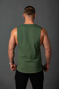 "Tank Sleeveless ""Reverse"" Khaki/Black"
