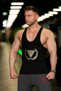 czarny tank top typu stringer aesthetic body