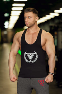 "Tank Stringer ""Logo"" Black/White"