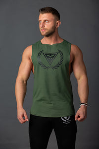 "Tank Sleeveless ""Logo"" Khaki/Black"