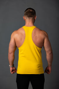 "Tank Stringer ""Aesthetic"" White/Yellow"