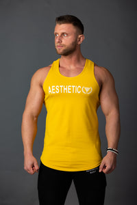 "Tank Pro ""Aesthetic"" Yellow/White"