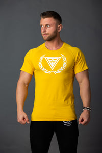 "T-shirt ""Logo"" Yellow/White"