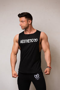 "Tank Sleeveless ""Aesthetic"" Black/White"