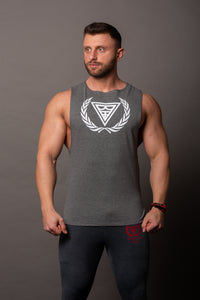 "Tank Sleeveless ""Logo"" Antracyt/White"