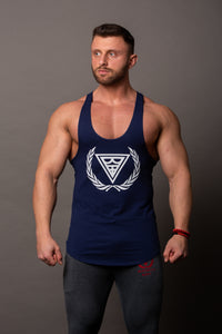 "Tank Stringer ""Logo"" Navy/White"