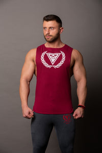 "Tank Sleeveless ""Logo"" Burgund/White"
