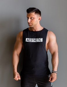 "Tank Sleeveless ""Reverse"" Black/White"