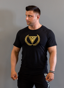 "T-shirt ""Logo"" Black/Gold"