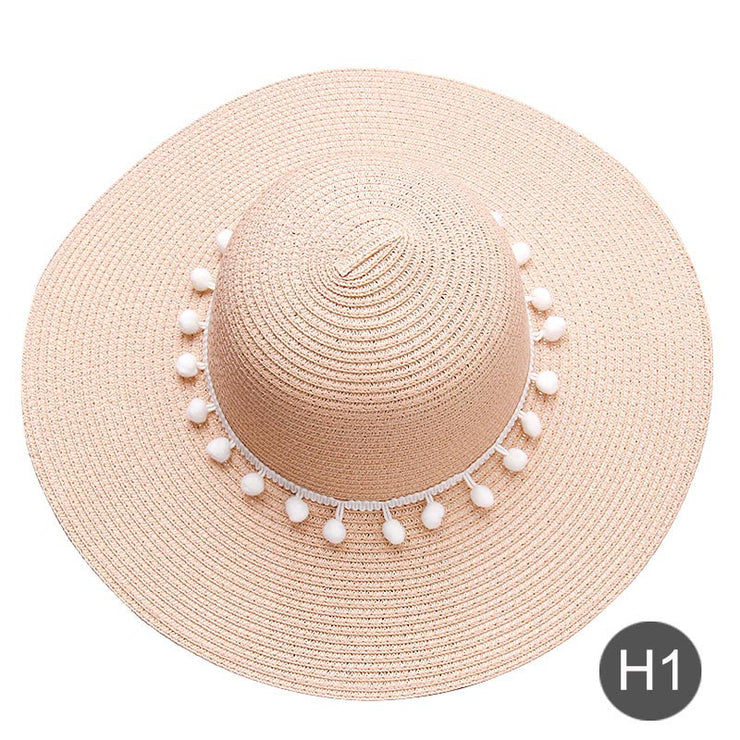 Embroidered text straw hat