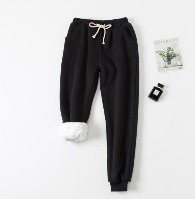 Velvet padded sweatpants