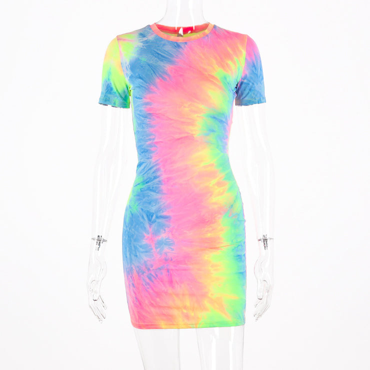 Fluorescent Camouflage Sling Dress