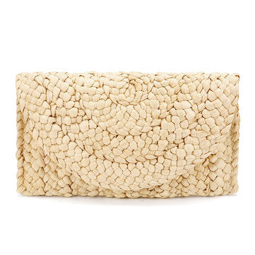 Lovely Retro Straw Knitted Wallet