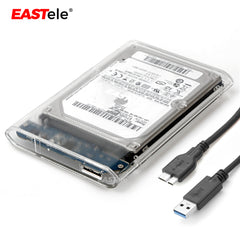 Transparent USB 3.0 SSD Hard Disk Case