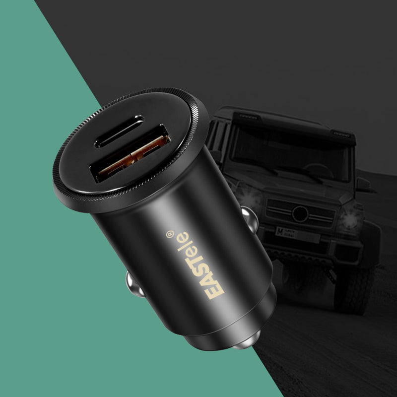 Dual USB+Type-C Fast Car Charger Adapter PD3.0 QC3.0
