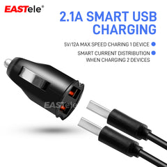 Universal Dual Port USB Car Charger Adapter