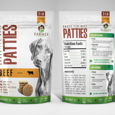 Farmly Gently Cooked Frozen Patties 3lbs