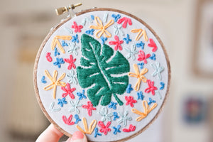 Monstera Embroidery DIY Collaboration