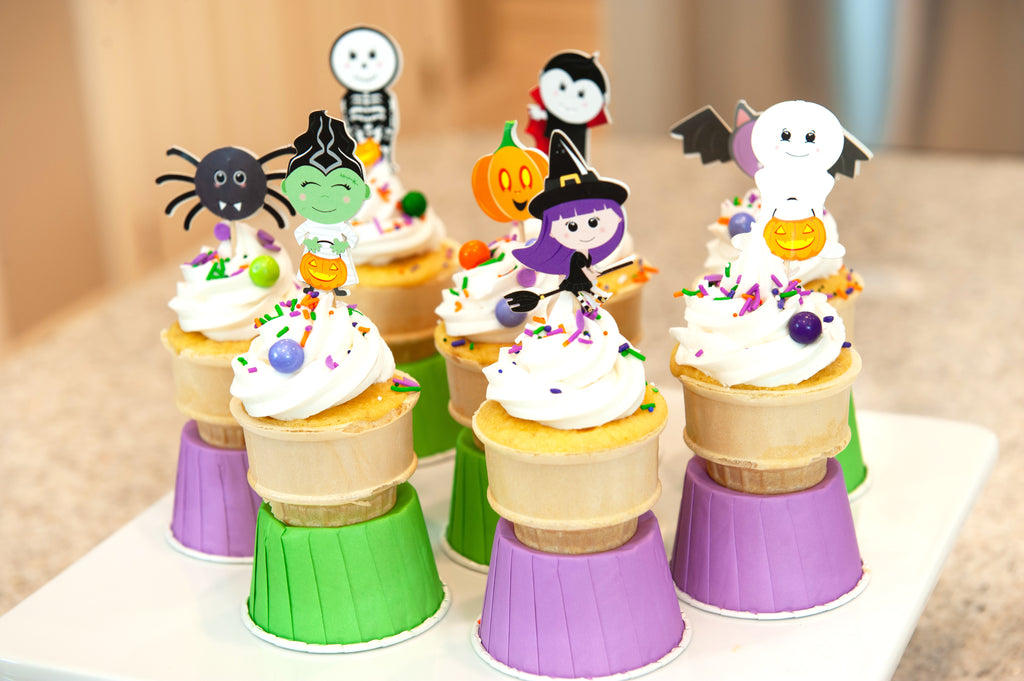 Spooky (Easy) Baking: Cone Cakes!