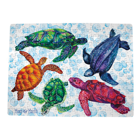 Sea Turtle Puzzles - Easy & Hard!