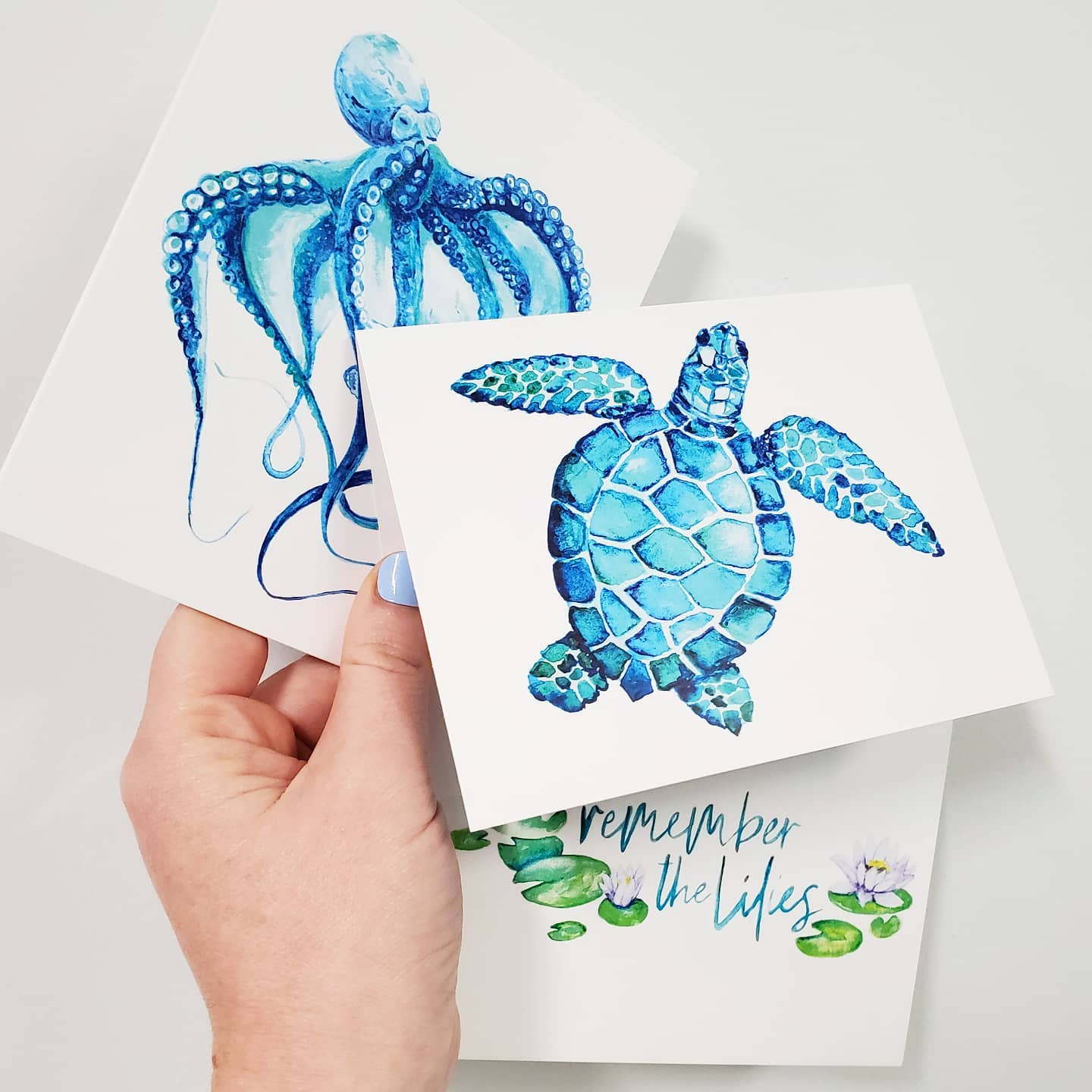 Watercolor Cards (Singles)