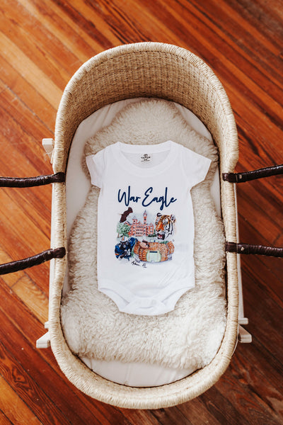 War Eagle Watercolor Onesie