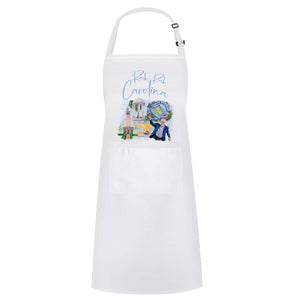 Carolina Apron - Watercolor Print