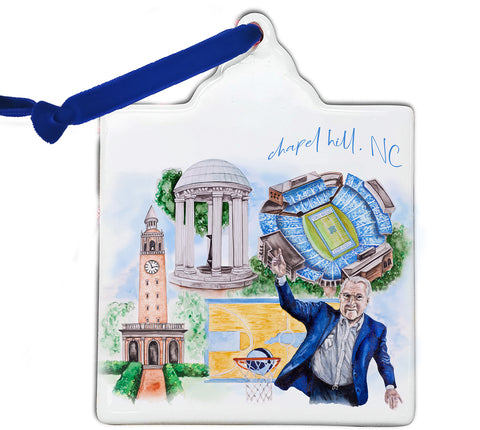 UNC Watercolor Ornament