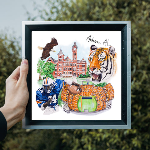 War Eagle Watercolor Painting Prints