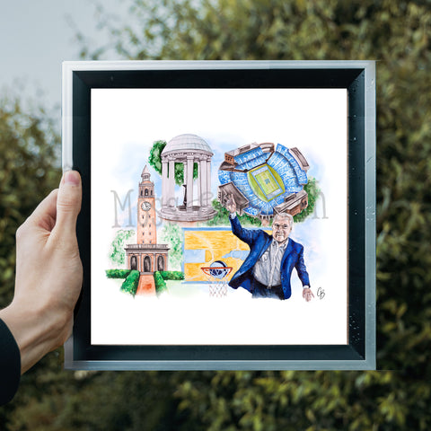 UNC Watercolor Painting Prints