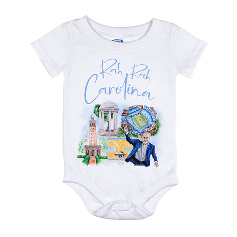 UNC Watercolor Onesie