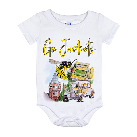 GA Tech Watercolor Onesie