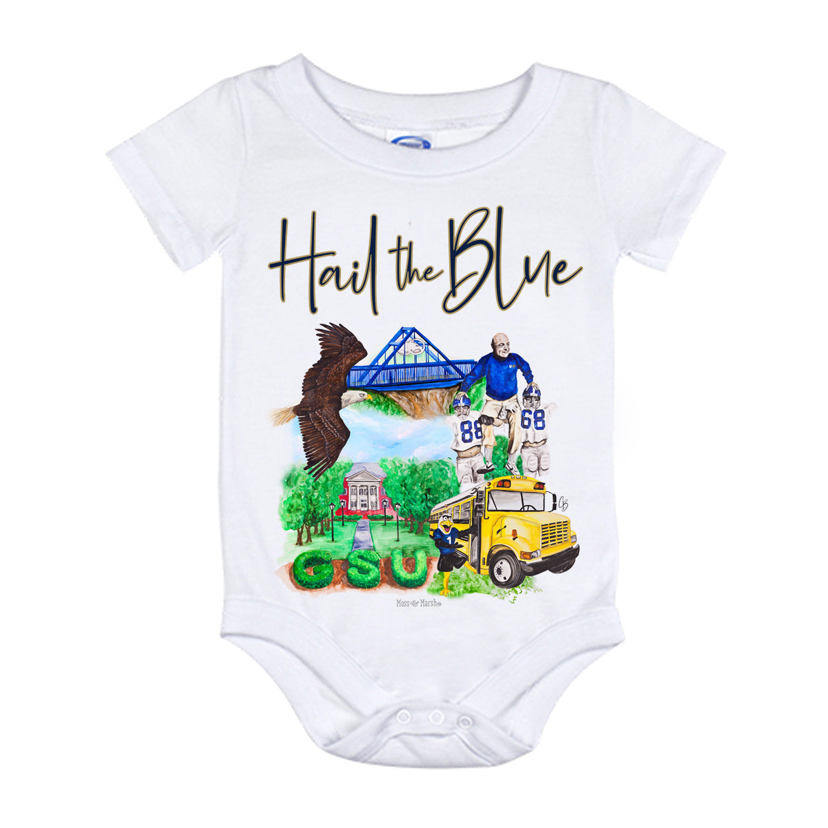 Southern Watercolor Onesie