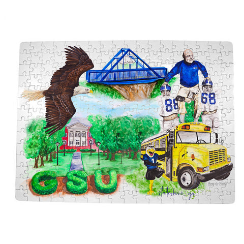 GSU Watercolor Puzzle