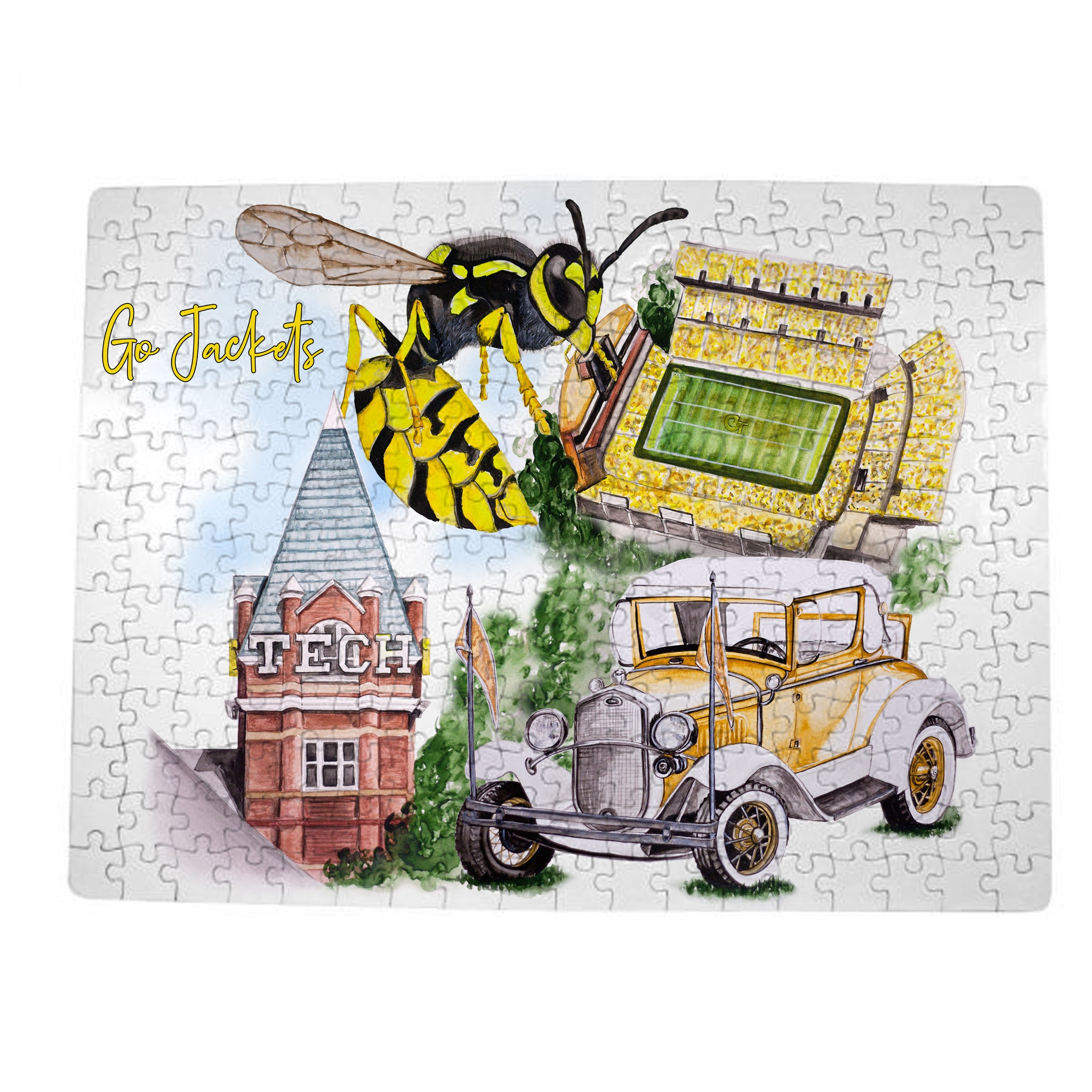 GA Tech Watercolor Puzzle