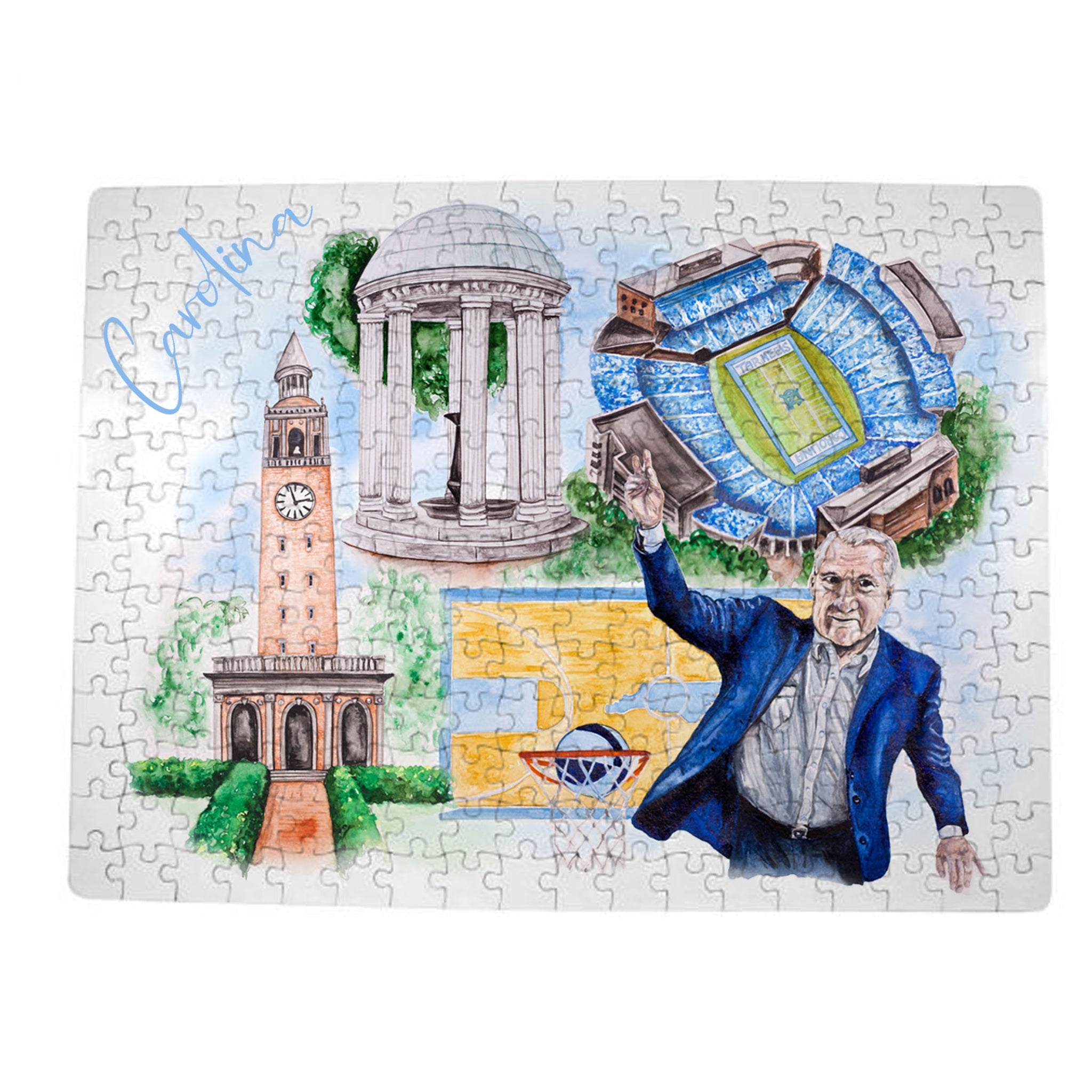 UNC Watercolor Puzzle