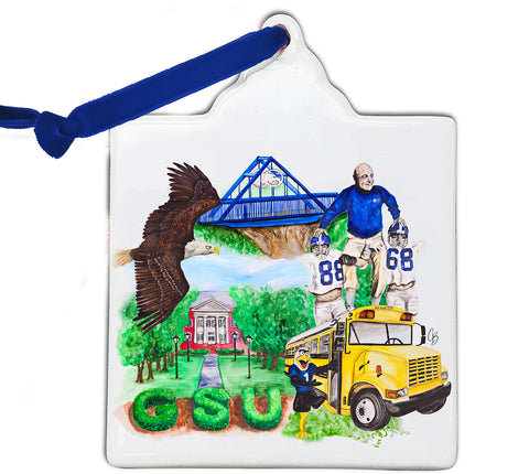 GSU Watercolor Ornament