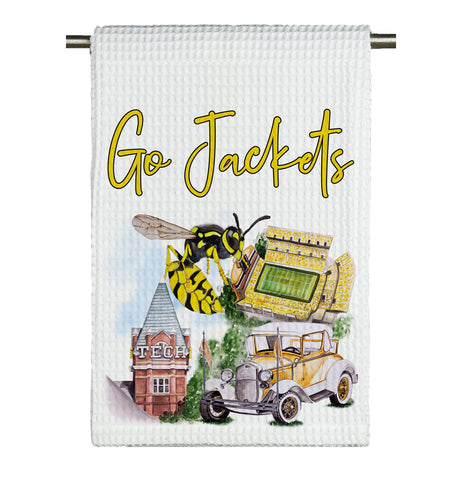 GA Tech Watercolor Microfiber Tea Towel