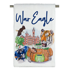 War Eagle Watercolor Microfiber Tea Towel