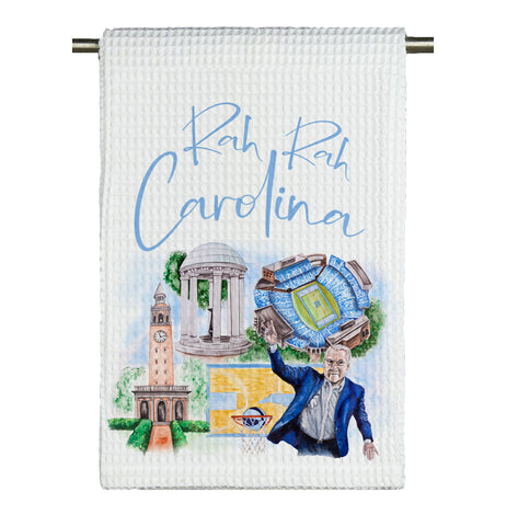 UNC Watercolor Microfiber Tea Towel