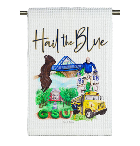Southern Watercolor Microfiber Tea Towel